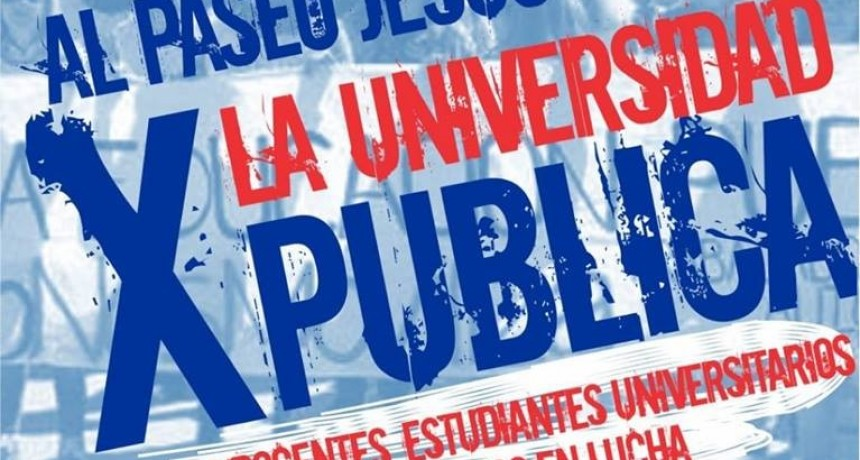 Marcha en defensa de la Universidad Pública