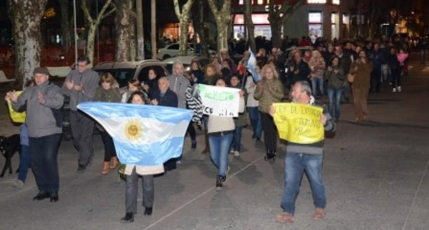 En Olavarría también se manifestaron por el desafuero de CFK