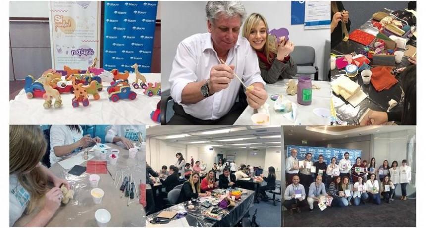 Banco Macro y la Fundación Sí, realizaron voluntariado por el Día del Niño