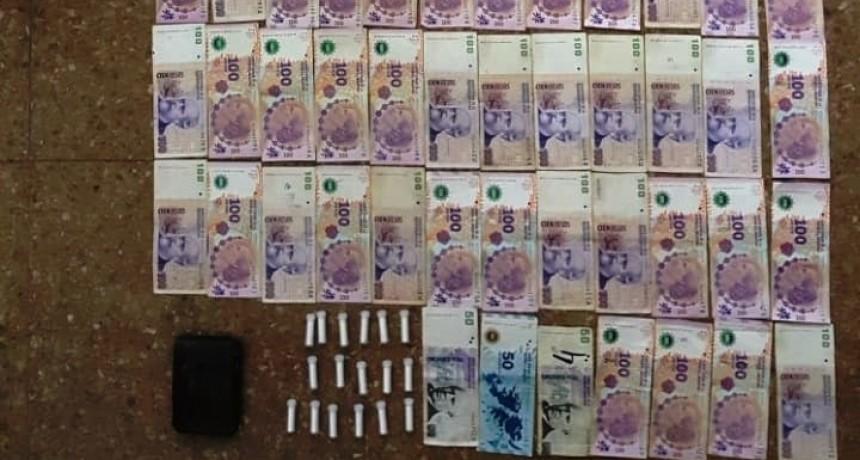 Lo atraparon con cocaína y dinero en efectivo