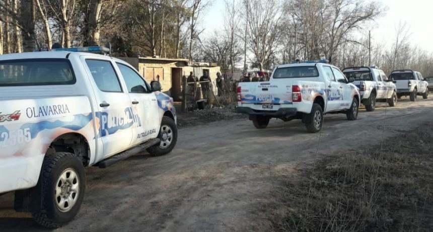 Secuestran elementos en allanamientos por una causa de abigeato