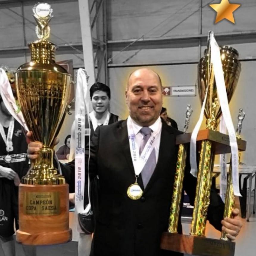 Marcos Beltramella campeón en el básquet de Chile
