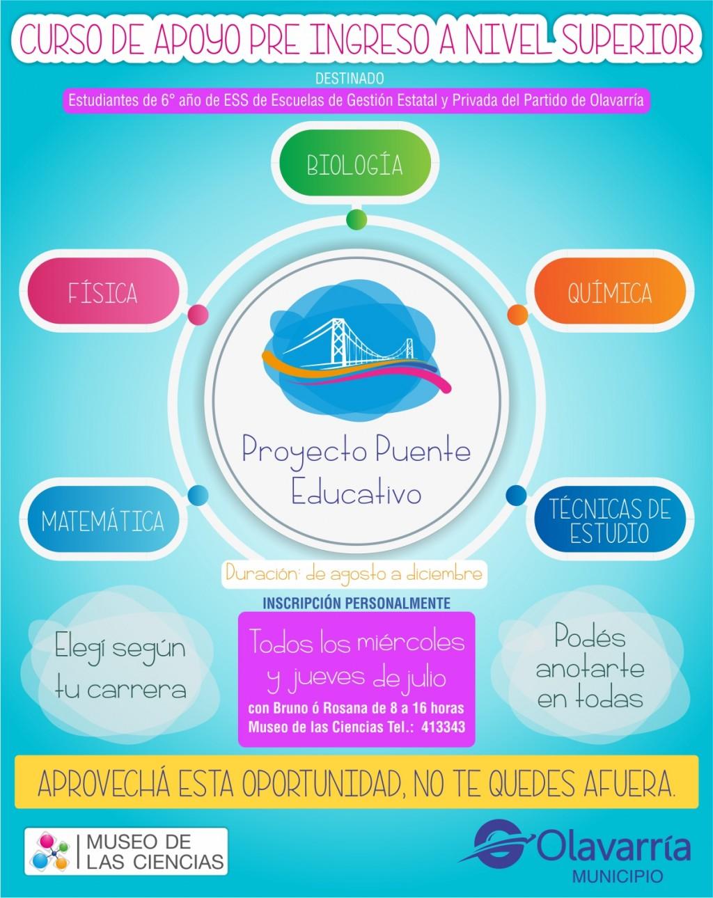 """Inició el """"Proyecto Puente Educativo"""" 2019"""