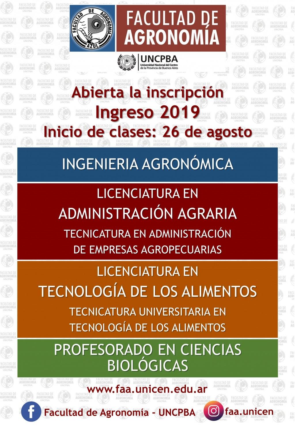 Azul: Inscripción e inicio de clases en Agronomía