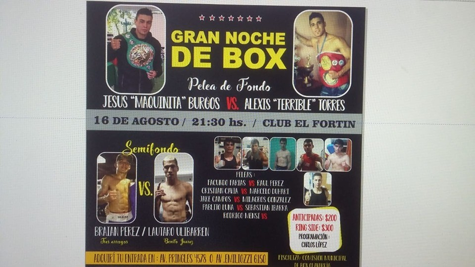 Boxeo: Festival en el Club El Fortín