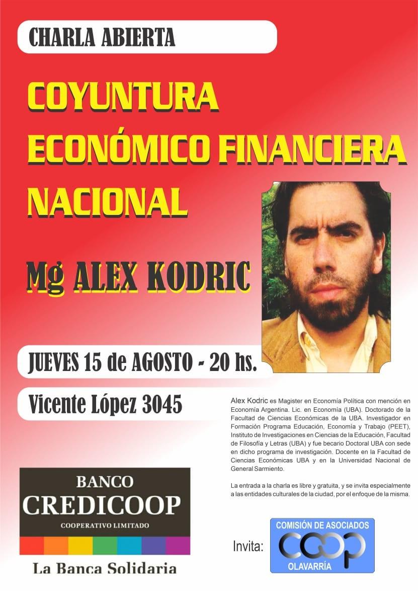Charla sobre la coyuntura económica financiera Argentina