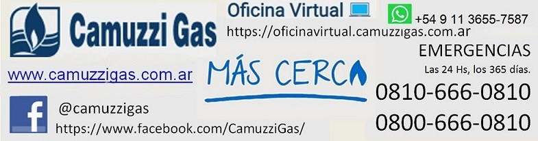 Sumate a la oficina virtual de Camuzzi Gas