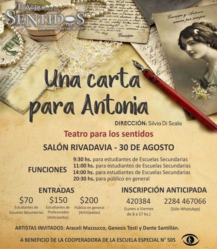 Teatro para los Sentidos, en el Salón Rivadavia