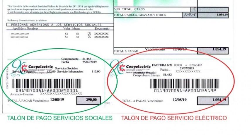 Coopelectric aclara sobre la facturación de Servicios Sociales