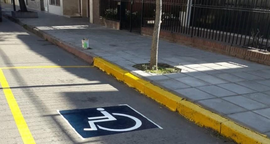 Control Urbano realizó nuevas demarcaciones en distintos puntos de la ciudad