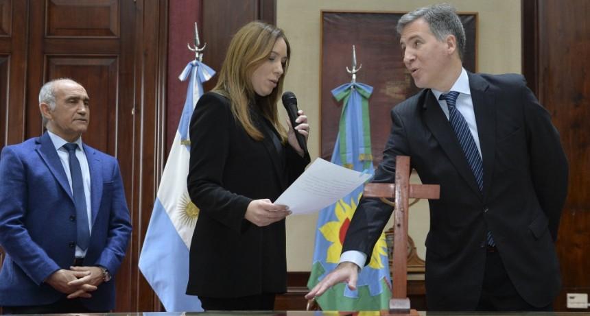 Vidal tomó juramento al nuevo Ministro de Economía de la provincia