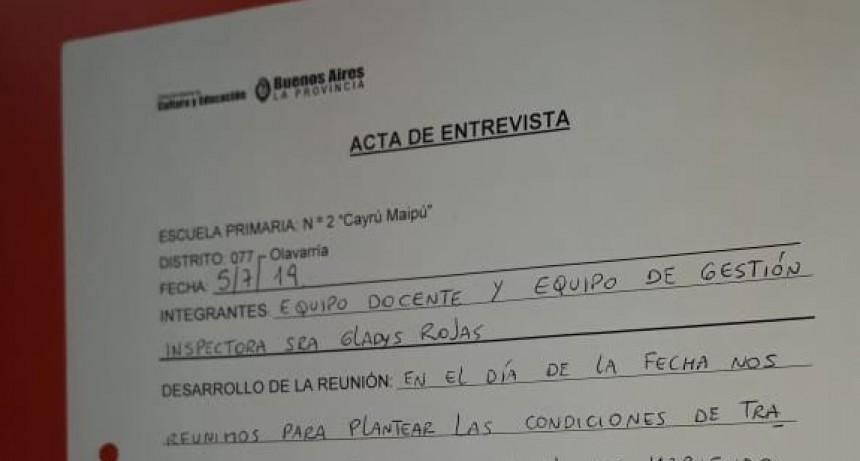 SUTEBA Olavarría exige solucionar problemas de calefacción para la EP 2 de Sierra Chica