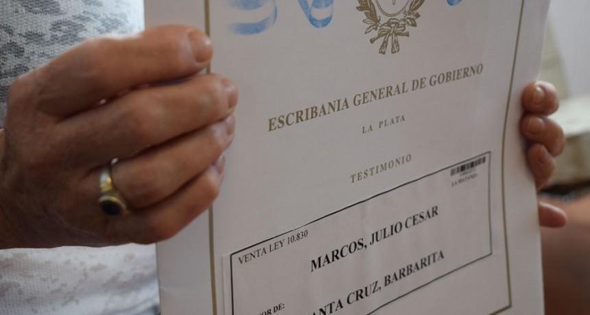 Cuatrocientas familias de Olavarría serán dueñas de sus hogares
