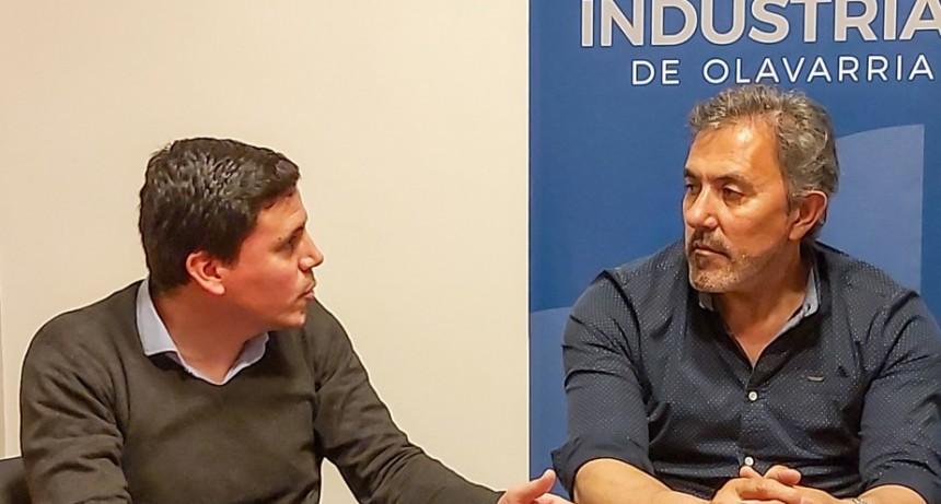 La Unión Industrial de Olavarría recibió a Federico Aguilera