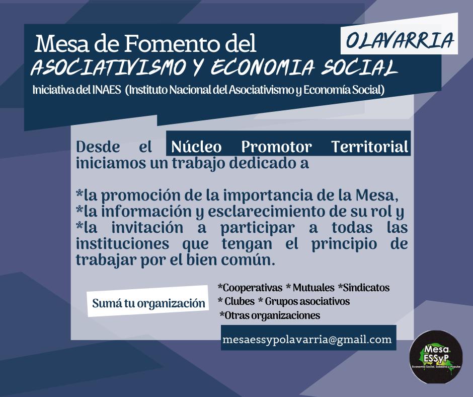 Convocatoria para conformar la Mesa de Fomento del Asociativismo y la Economía Social regional