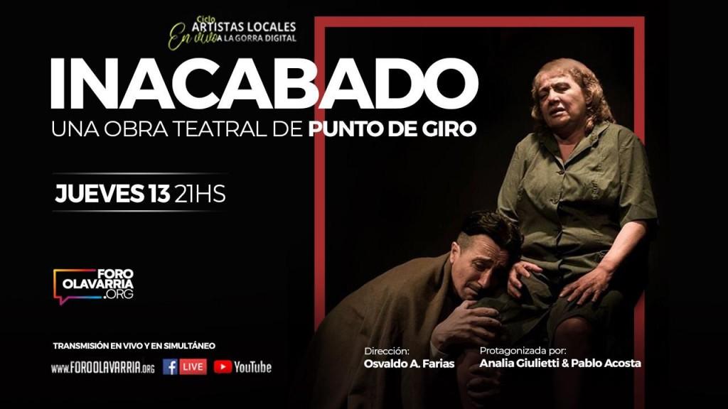 Este jueves Teatro de Punto Giro en el vivo a la gorra digital