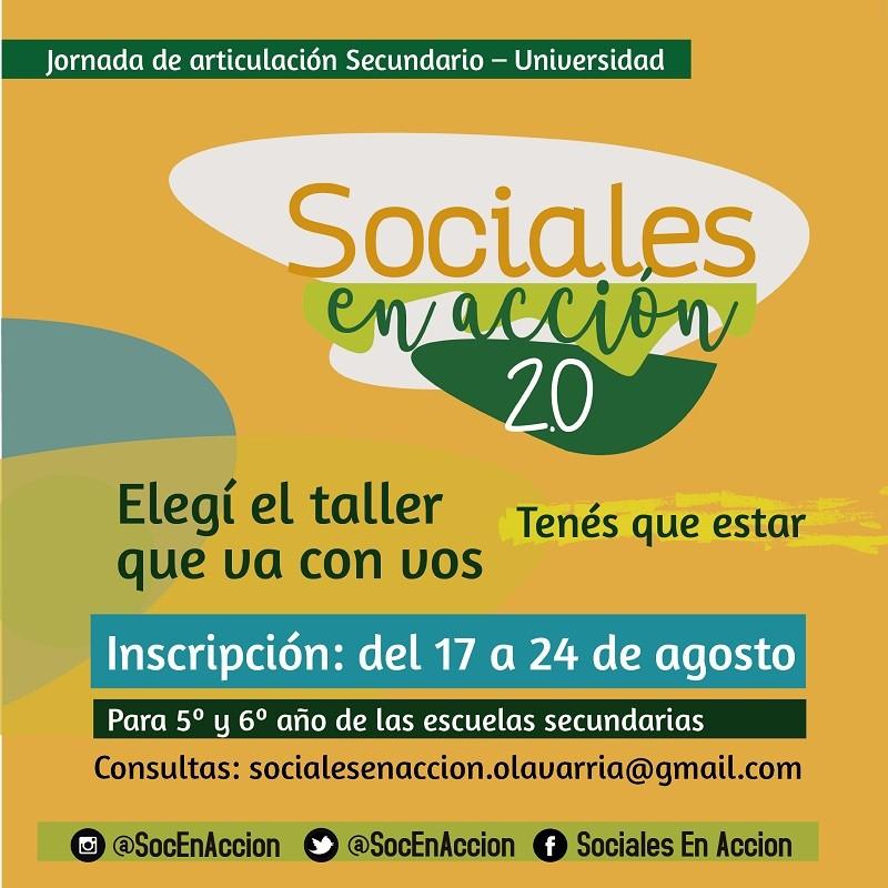 Se viene la vigésima edición de Sociales en Acción 2.0