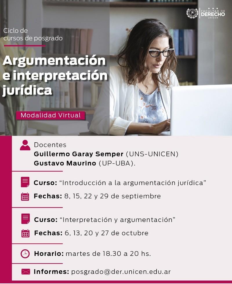 Ciclo de cursos de posgrado en la Facultad de Derecho de la UNICEN