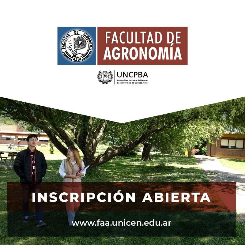 Inscripción abierta a la Facultad de Agronomía