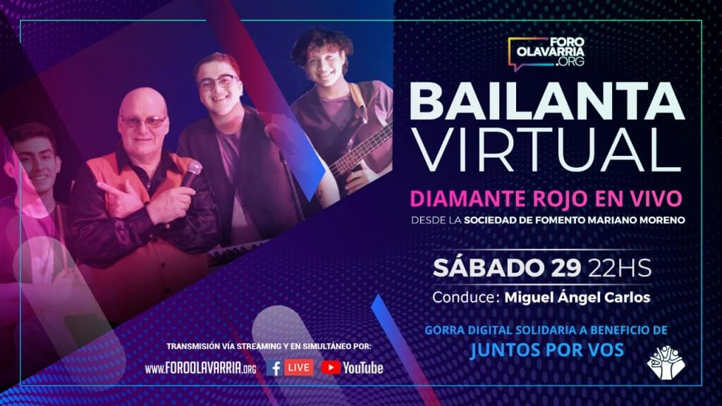 Bailanta Virtual con Diamante Rojo en VIVO por las Redes del Foro Olavarría