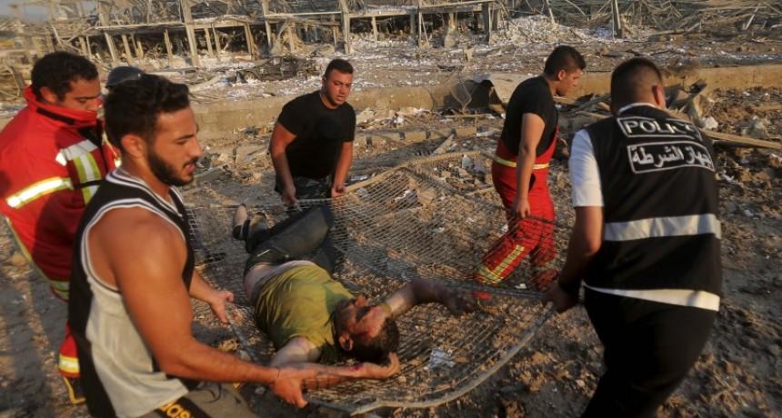 Investigan la explosión en Beirut como accidente de trabajo