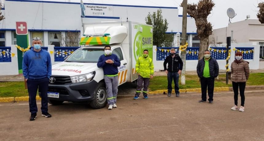 Se incorporó una ambulancia 4×4 para Recalde y Espigas