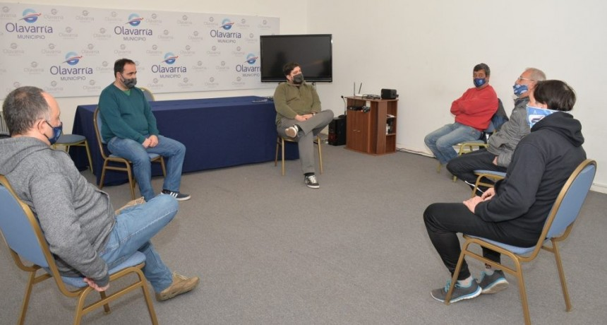 Diego Robbiani se reunió con dirigentes de la Liga de Fútbol