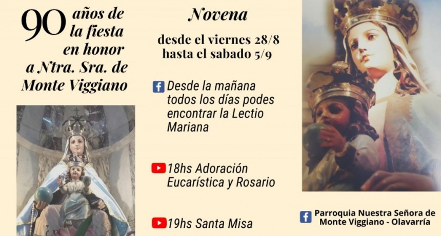 Fiestas Patronales de Monte Viggiano y 90° aniversario de la primera Procesión