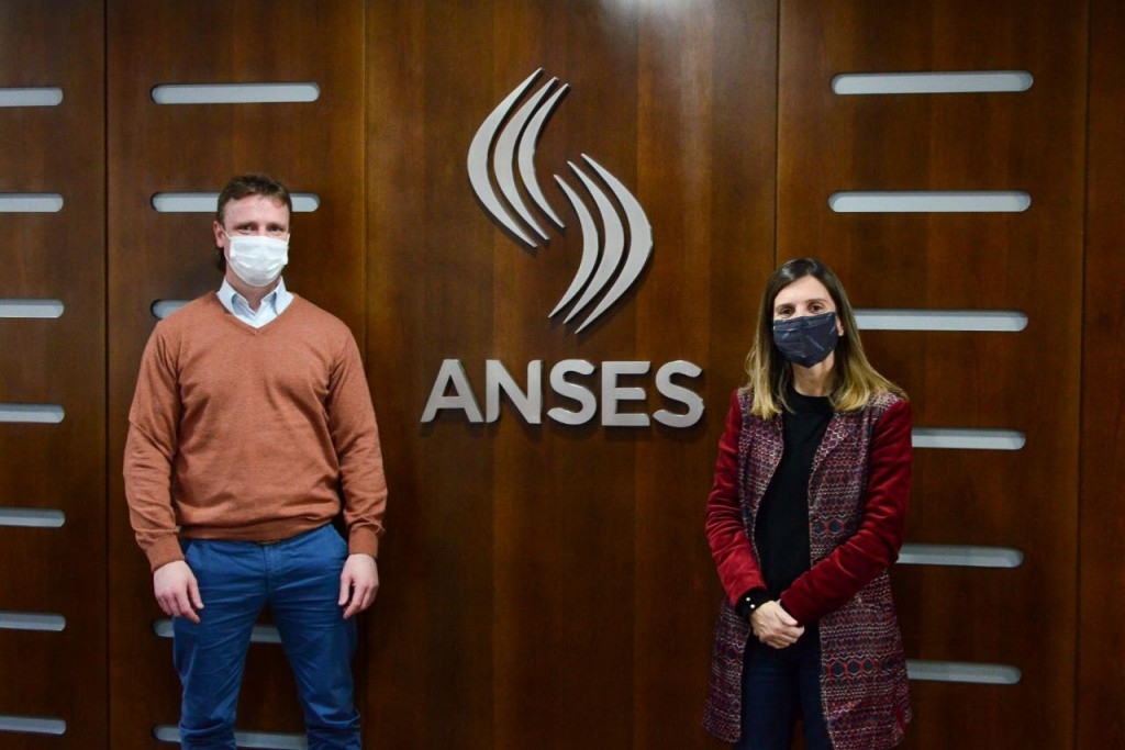 Wesner se reunió con la directora nacional de ANSES, Fernanda Raverta