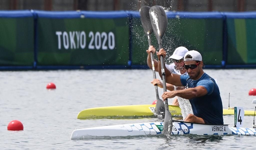 Vernice en las semifinales de K1 1000 en Tokio 2020
