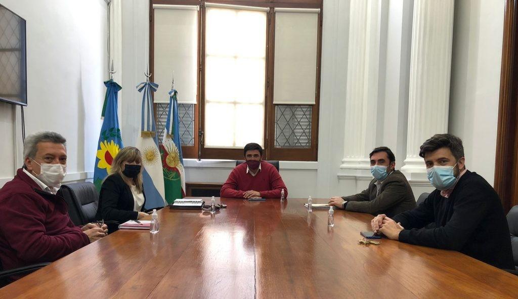 Ezequiel Galli recibió a las autoridades de la Facultad de Ingeniería
