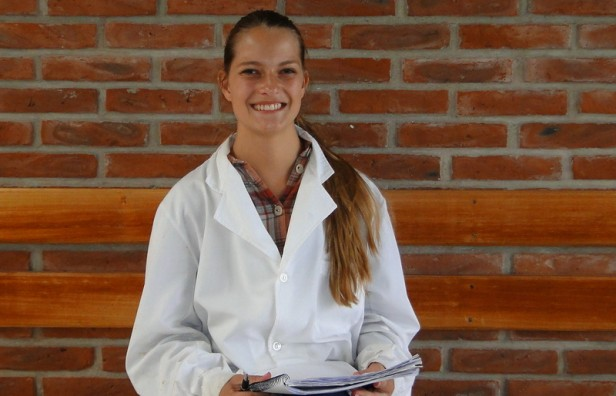Una alemana en la Facultad de Ingeniería local
