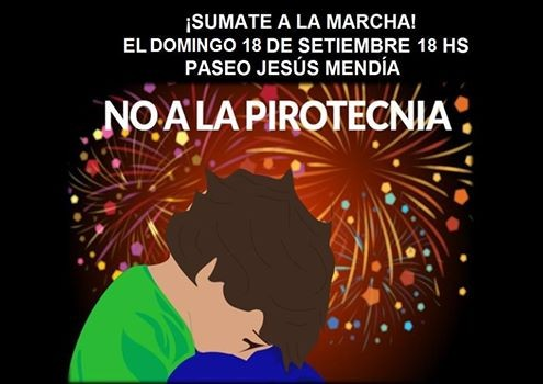 Se realiza este domingo la marcha contra la pirotecnia