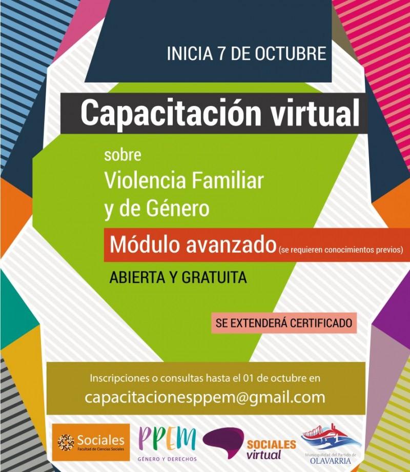 Finaliza la inscripción para la Capacitación en Prevención de Violencia Familiar y de Género