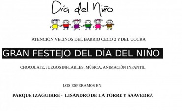 Día del Niño en barrios CECO II y UOCRA