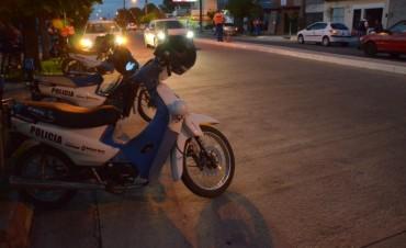 Control Urbano detectó un motociclista con alcoholemia positiva