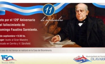 El homenaje a Sarmiento será este viernes