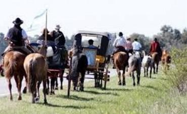 Gauchos peregrinos rumbo a Luján