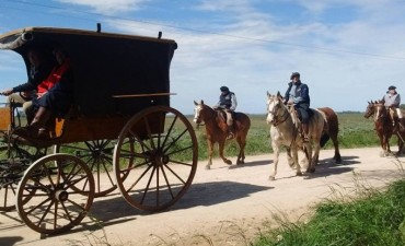 Gauchos peregrinos: destacan el cuidado de los caballos