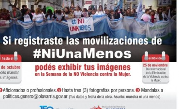 Convocatoria para exponer fotografías de #NiUnaMenos