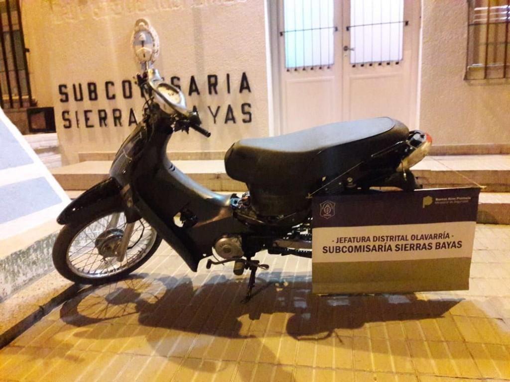 Lograron recuperar una moto robada