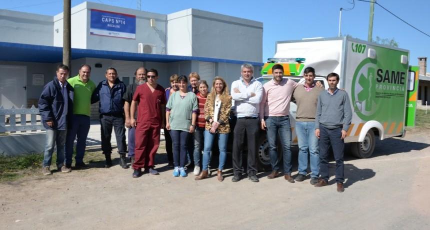 El intendente Galli entregó una nueva ambulancia para Recalde
