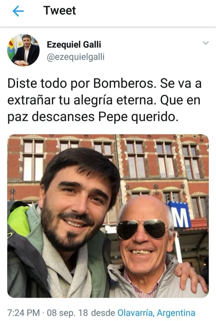 Falleció Alberto 'Pepe' Peña