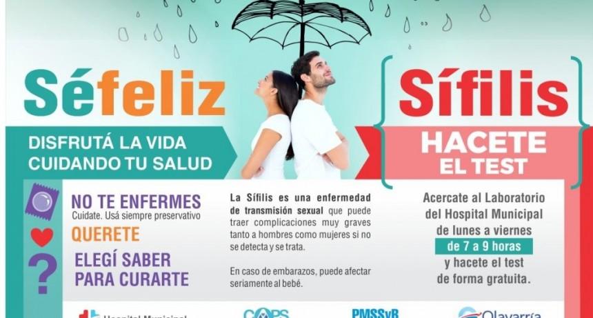Campaña de prevención y diagnóstico temprano de Sífilis