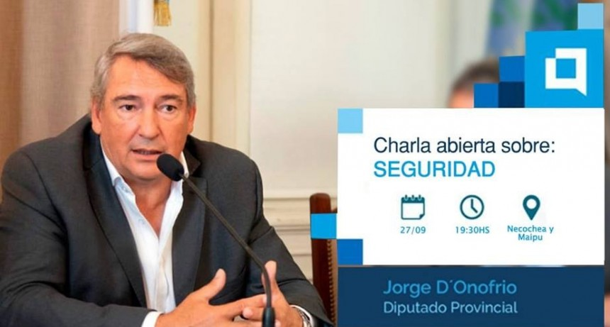 El diputado provincial Jorge D'onofrio llega a Olavarría