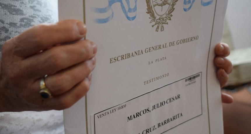 Más de 270 familias de Olavarría se convertirán en dueñas de sus hogares