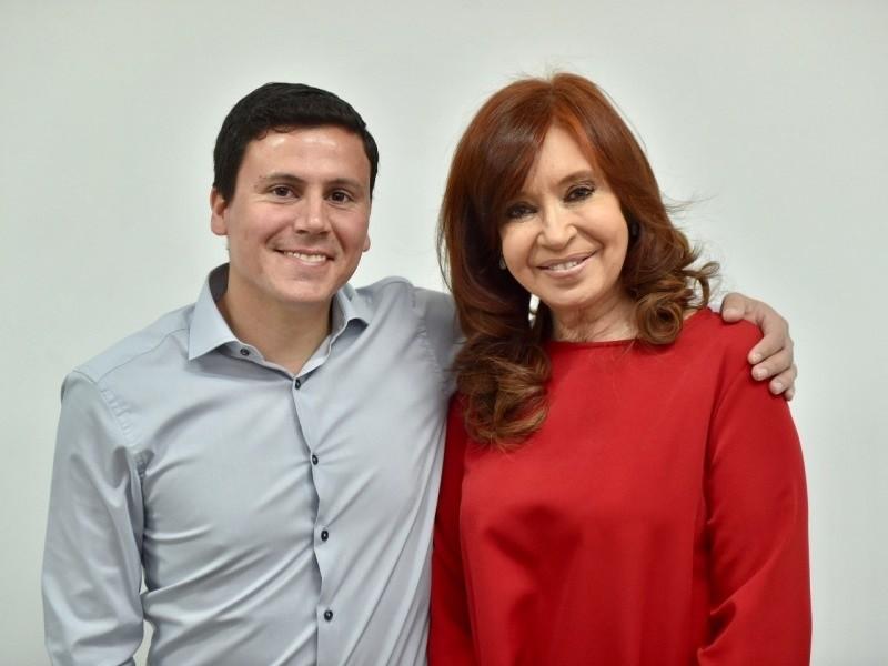 Aguilera en la reunión con Cristina Fernández