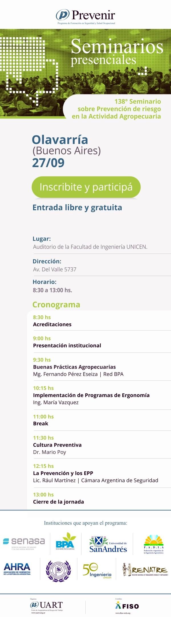 Seminario 'Prevención de riesgos en la actividad agropecuaria'