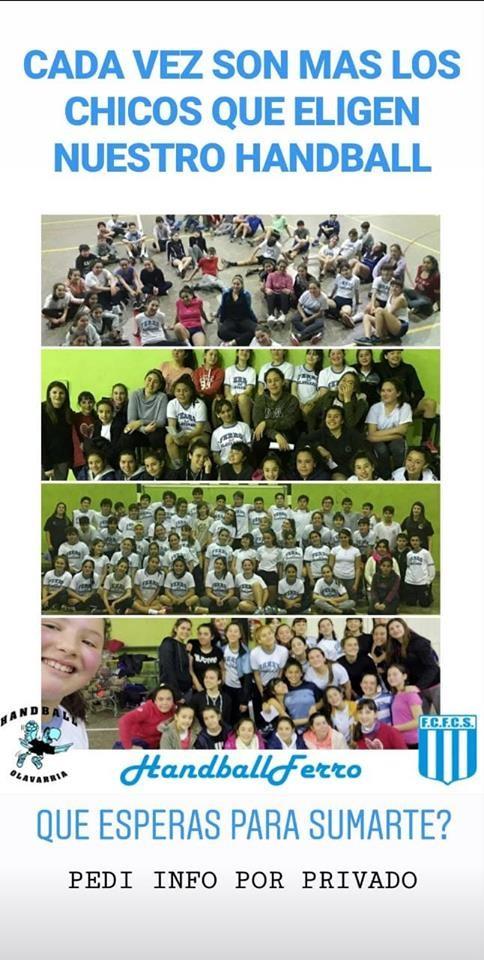 Handball: Ferro al Argentino Femenino.