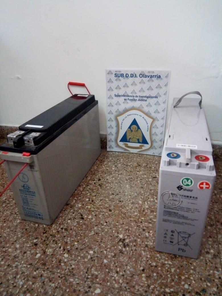 Tras allanamiento, recuperan dos baterías que habían sido robadas